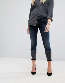 Dl1961 Florence Crop Skinny Jean With Contrast Wash Hem Detail afbeelding