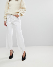 Dl1961 Hepburn Crop Wide Leg Jean With Raw Hem afbeelding