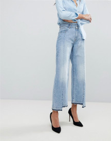 Dl1961 Hepburn High Waist Crop Jean With Uneven Hem afbeelding