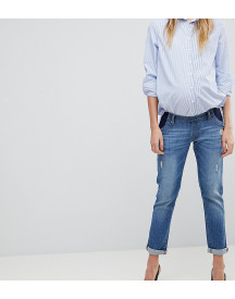 Dl1961 Maternity Riley Crop Boyfriend Jean afbeelding