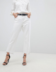 Dl1961 Patti High Waist Straight Leg Jean With Raw Hem afbeelding