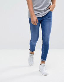 Dml Jeans Super Skinny Spray On Jeans In Mid Blue afbeelding