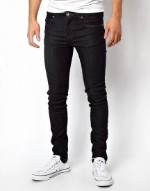 Dr Denim Jeans Snap Skinny In Blue Raw afbeelding