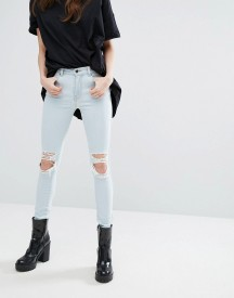Dr Denim Lexy Mid Rise Jeans With Ripped Knee afbeelding