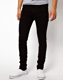 Dr Denim Snap Skinny Jeans In Black afbeelding