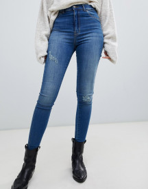 Dr Denim Solitaire High Waist Super Skinny Jean With Distressing afbeelding