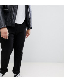 Duke King Size Tapered Fit Jeans In Black With Stretch afbeelding