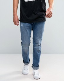 Edwin Ed-55 Tapered Jeans With Distressing afbeelding