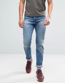 Edwin Ed-80 Slim Tapered Jeans Average Wash Abraisions afbeelding