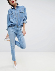 Esprit Cropped Distressed Stretch Jeans afbeelding