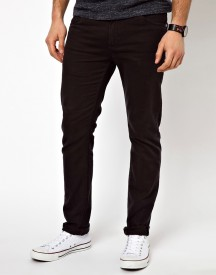 Farah Drake Slim Fit Jeans In Black Twill afbeelding