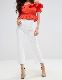 Fashion Union High Rise Cropped Kick Flare Jeans afbeelding