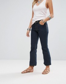 Free People 60's Raw Denim Kick Flare Jeans afbeelding