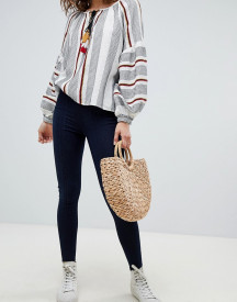 Free People Seamed Pull On Skinny Jeans afbeelding