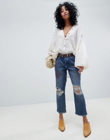 Free People Tattooed Ripped Boyfriend Jeans afbeelding