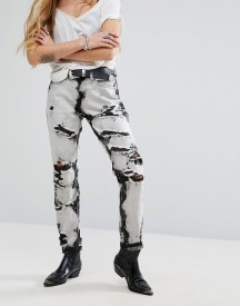 Glamorous Mom Jeans In Bleach Wash afbeelding
