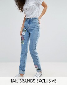 Glamorous Tall Boyfriend Jean With Painted Floral afbeelding