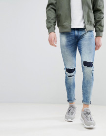 Good For Nothing Super Skinny Jeans With Knee Repaired Rips afbeelding