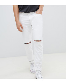Heart & Dagger Skinny Fit Jeans In White With Knee Rips afbeelding