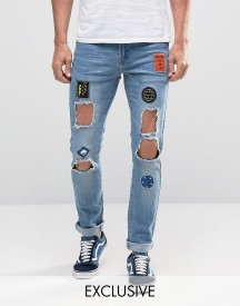 Hero's Heroine Skinny Jeans With Distressing afbeelding