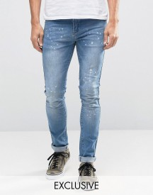 Hero's Heroine Skinny Jeans With Paint Splatter afbeelding