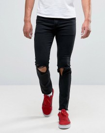 Heros Heroine Jeans In Skinny Fit With Raw Hem afbeelding
