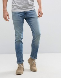 Hollister Skinny Jeans Mid Wash With Knee Slits Distress afbeelding