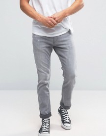 Hollister Skinny Stretch Jeans Grey Wash In Grey afbeelding