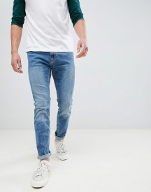 Hollister Skinny Stretch Jeans In Mid Wash afbeelding