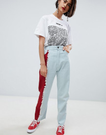 House Of Holland Vivid Contrast Mom Jeans afbeelding