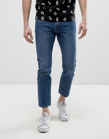 House Of Holland X Lee Zip Powell Slim Jeans Mid Wash afbeelding