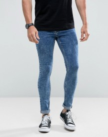 Hoxton Denim Extreme Skinny Acid Wash Jeans afbeelding