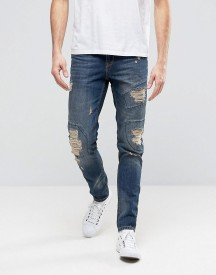 Hoxton Denim Jeans Patch Rip And Repair Patch Yellow Wash Jean afbeelding