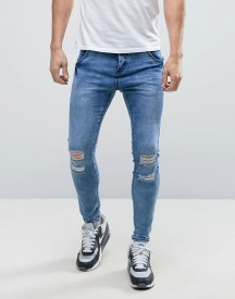 Illusive London Super Skinny Jeans With Distressing afbeelding