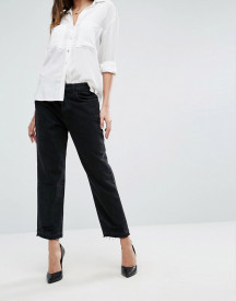 J Brand High Rise Crop Straight Jean With Raw Hem And Abrasions afbeelding