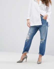 J Brand Ivy High Rise Cropped Boyfriend Jeans With Abrasions afbeelding