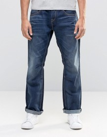 Jack & Jones Dark Blue Washed Jeans In Loose Fit With Engineered Details afbeelding