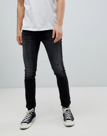 Jack & Jones Intelligence Jeans In Skinny Fit With Distressing afbeelding