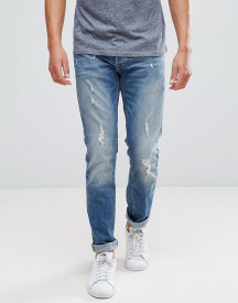 Jack & Jones Intelligence Jeans In Slim Fit With Distress Detail afbeelding