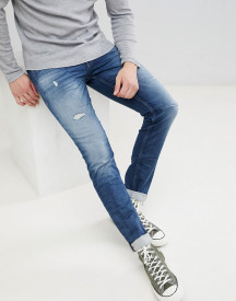 Jack & Jones Intelligence Jeans In Slim Fit With Distressing afbeelding