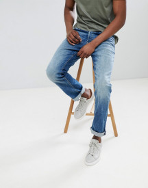 Jack & Jones Jeans In Regular Fit Washed Blue Denim afbeelding