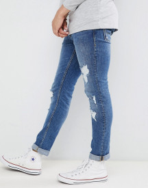 Jack & Jones Jeans In Slim Fit Distressed Denim afbeelding