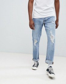 Jack & Jones Jeans In Slim Fit With Distressing afbeelding