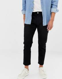 Jack & Jones Jeans In Tapered Fit Black Denim afbeelding