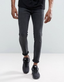 Just Junkies Max Spray On Second Skin Fit Jeans In Washed Grey afbeelding