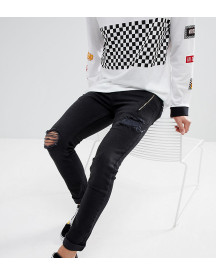 Just Junkies Skinny Jeans With Studs And Zip afbeelding