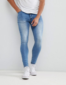 Kings Will Dream Super Skinny Jeans In Light Wash afbeelding
