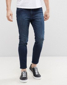 Kiomi Skinny Fit Jeans With Cropped Leg And Stretch afbeelding
