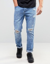 Kubban Denim Tapered Jean Ripped Stonewash afbeelding