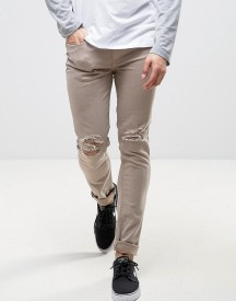 Kubban Skinny Jeans In Shitake afbeelding